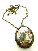 Image of Alice in Wonderland New Falling Cards Locket