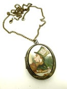 Image of Alice in Wonderland Mad Hatter Locket