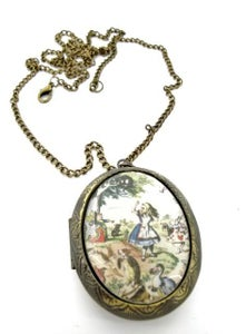 Image of Alice in Wonderland Scene Locket