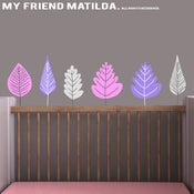 Image of Autumn Leaves Wall Decal M003 Stickers Babys Nursery Cot Room Girl Boy