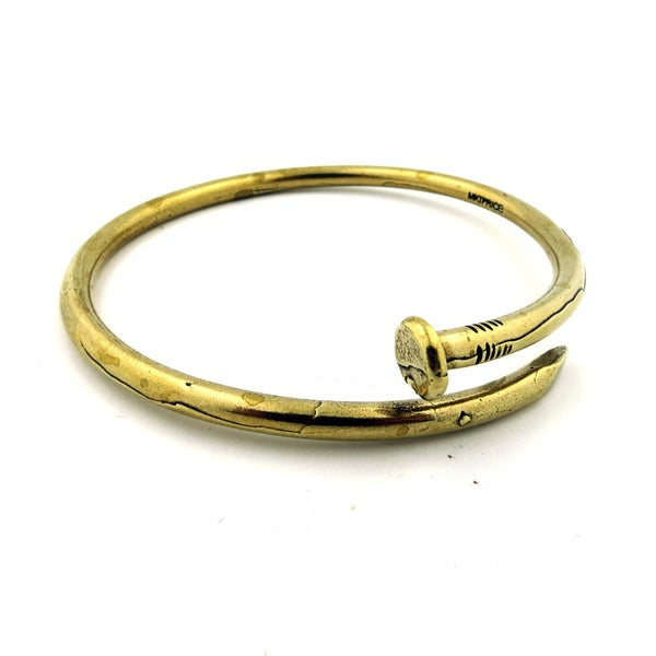 Image of NEW Skinny Nail Bangle [bent nail bracelet]