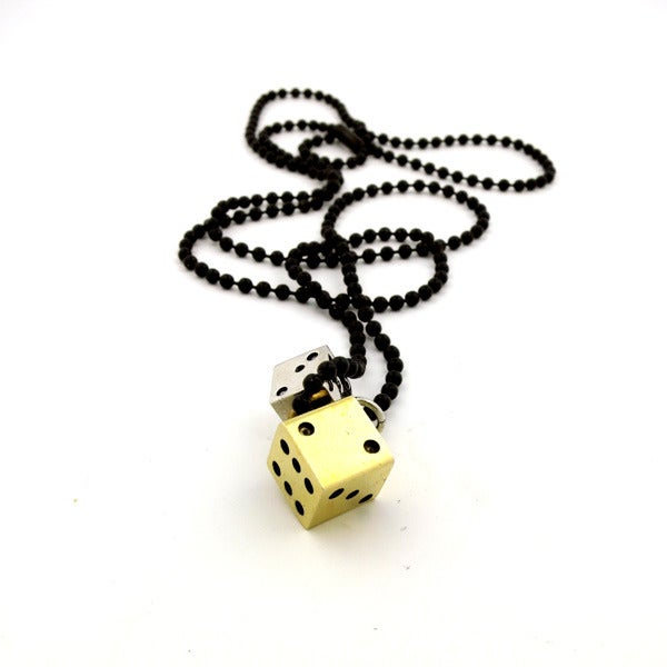 Image of 'DOUBLE-DOWN' DICE NECKLACE