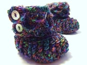 Image of Crocodile Stitch Baby Booties