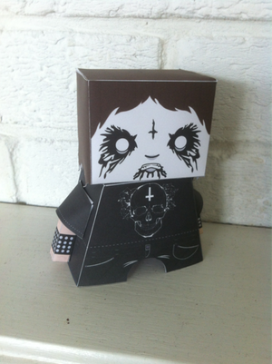 Image of Death To Diamonds Paper Toy Collection. FREE!