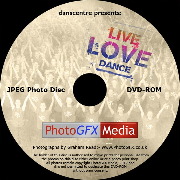 Image of Danscentre - Live Love Dance - Photo Disc