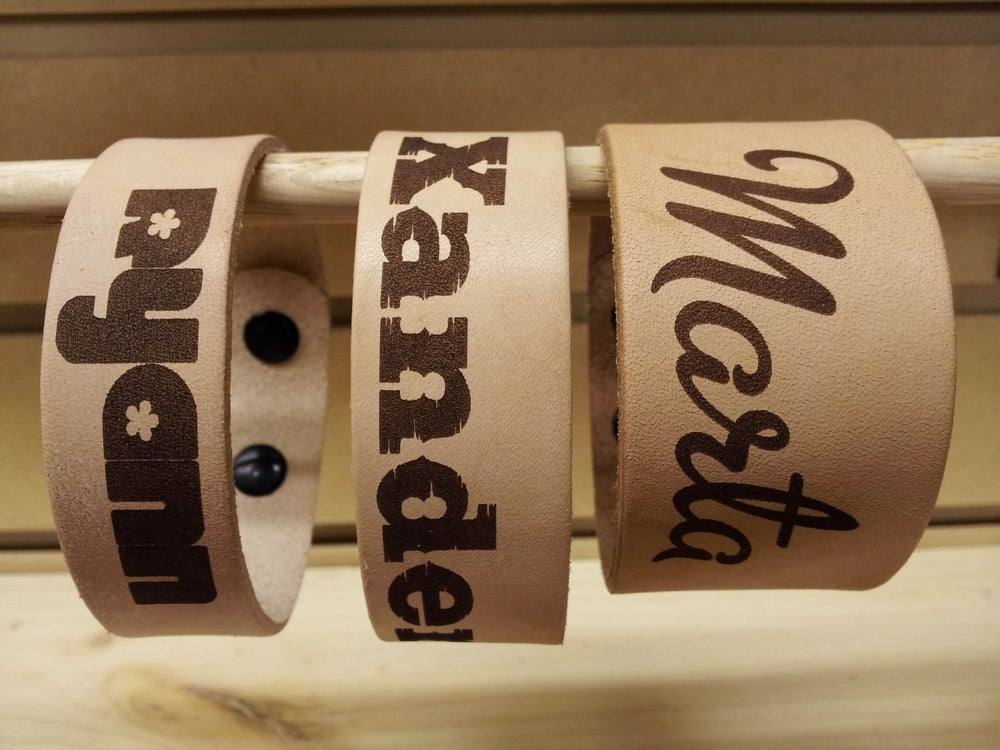 Image of Personalized Leather Wristbands
