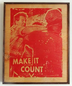 Image of Make It Count Red on Wood