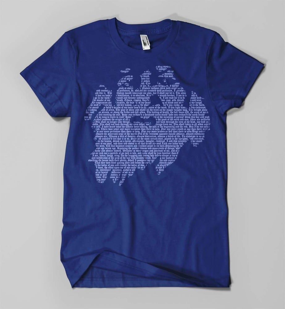 Image of walt whitman shirt (blue)