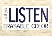Image of Sticker: it is if you listen