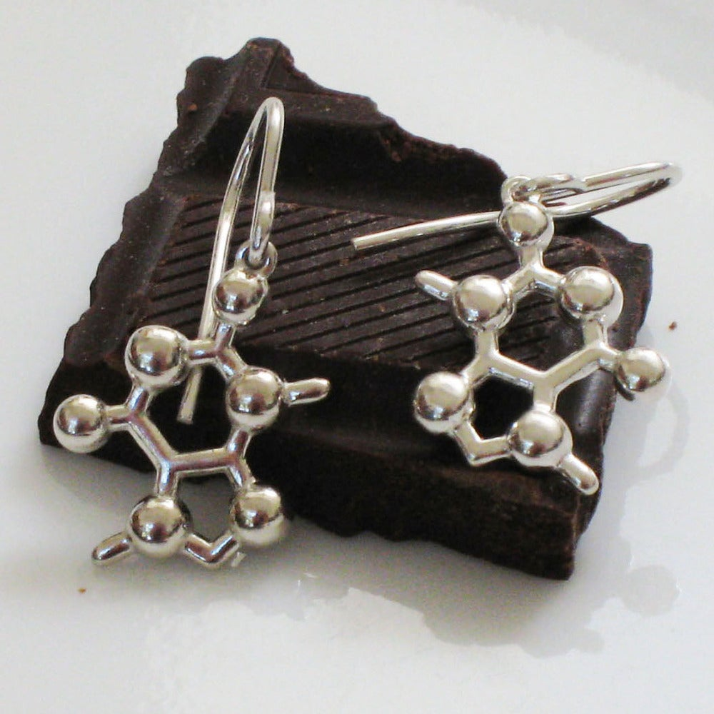 Image of theobromine earrings