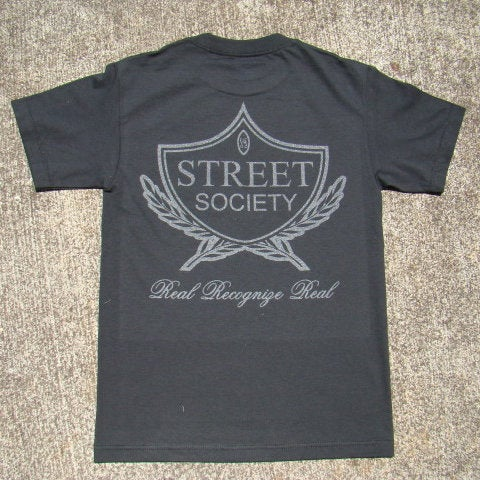 Image of THE STREET SOCIEY LOGO SHIRT IN 3M REFLECTIVE/ON BLACK