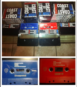 "Image of Losin' It/Disapproval ""Coast To Coast"" Split Tape (bundle)"