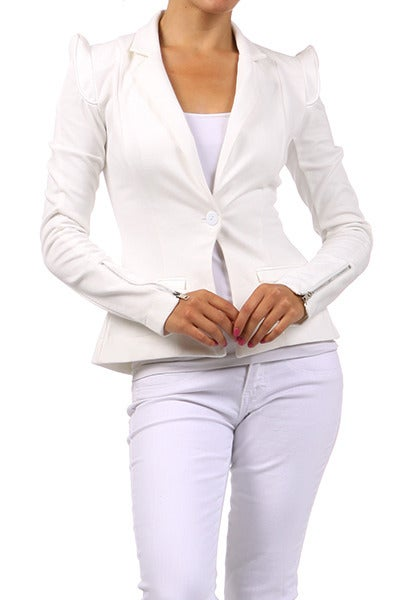 Image of Solid buttoned blazer