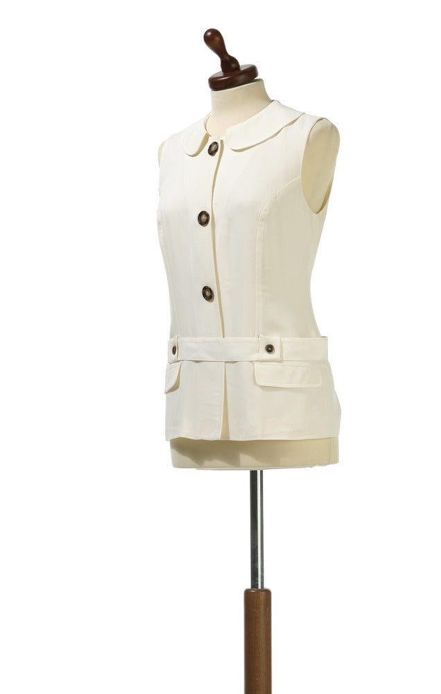 Image of Marline sleeveless day jacket