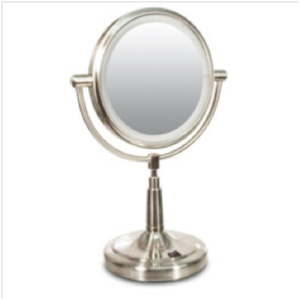 Low Vision Aids Zadro Led Lighted 5x1x Vanity Mirror Round