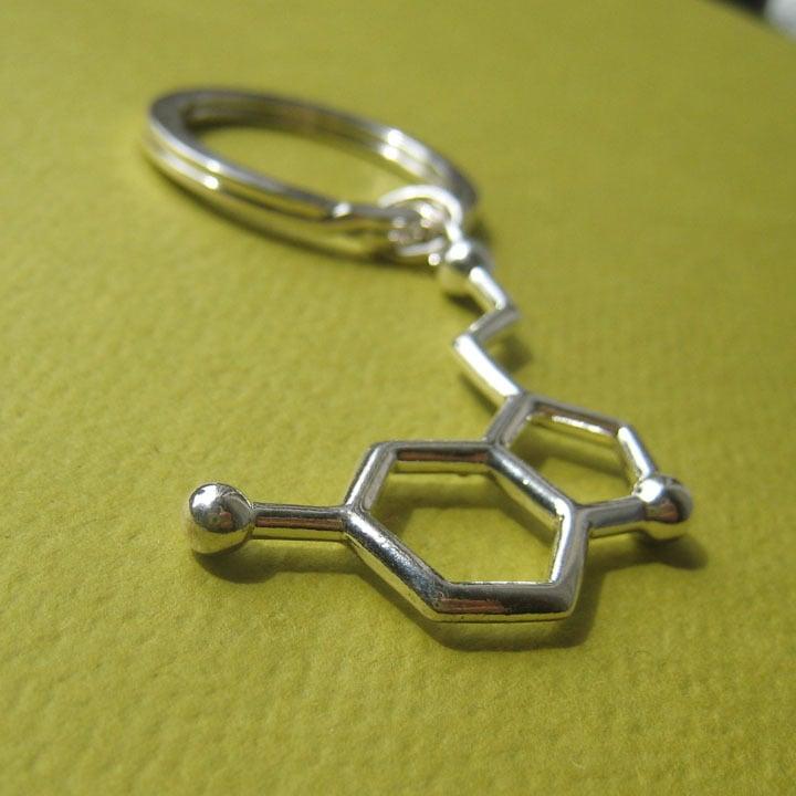 Image of serotonin keychain