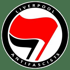 Image of LiverAF flag logo t-shirt