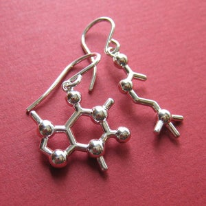 Image of mixed molecular earrings