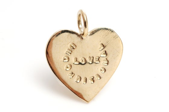 Image of 14kt Gold Unconditional Love charm