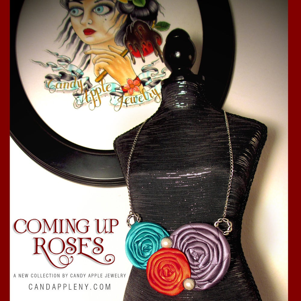 Image of Coming Up Roses • Cherry On Top Necklace