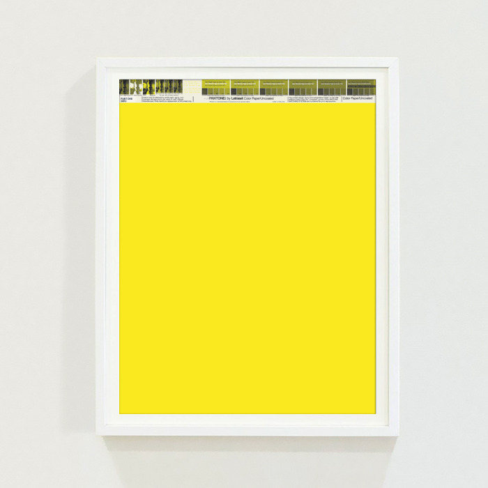 PANTONE® Letraset Posters × Yellows