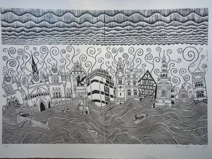 Image of Large Stanley Donwood's Fleet Street Apocalypse
