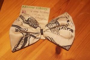 Image of Oversize Animal Print Vintage Fabric Bow