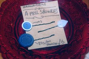 Image of April Showers Vintage Button Hairslide Set