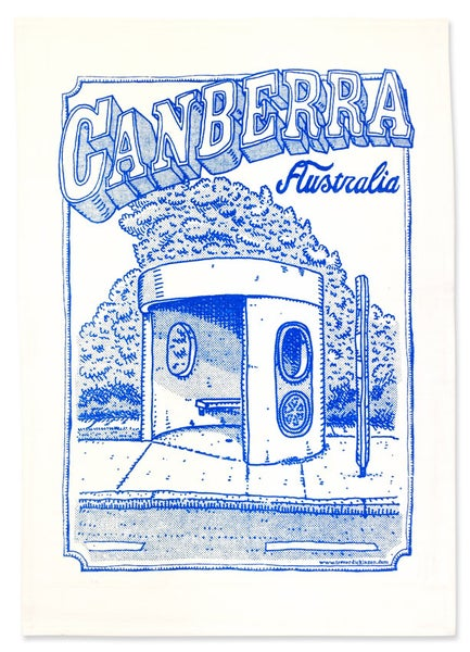 Image of Canberra Bus Stop tea towel