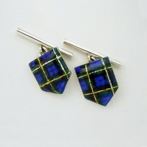 Image of Shield Cufflinks Tartan Themed