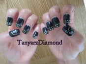 Image of Shimmering Ebony Press On Nails