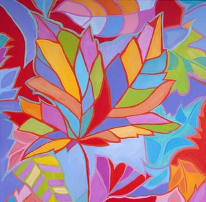 Image of Smoky Mountain Leaves Painting
