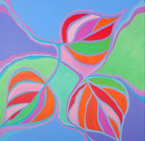 Image of Aspen Leaf Trio Painting
