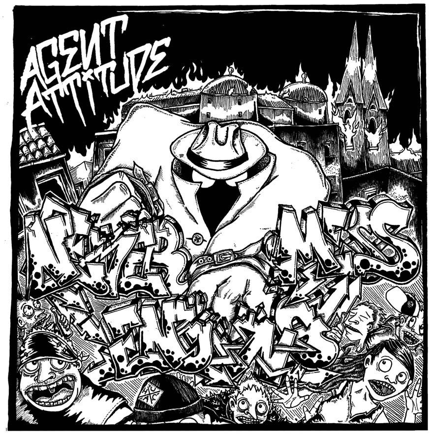 "Image of AGENT ATTITUDE ""NEVER ENDING MESS"" 7"" EP"