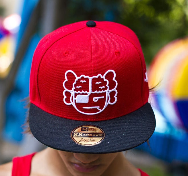 Image of Atama Logo Red/Black Snapback Cap #03 (Limited Edition of 30 hats)