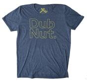 Image of Dub Nut. Yellow/Heather Navy