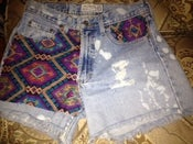 Image of Tribal Printed Distressed short