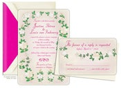 Image of ROMANTIC GARDEN WEDDING <BR>invitation sample set