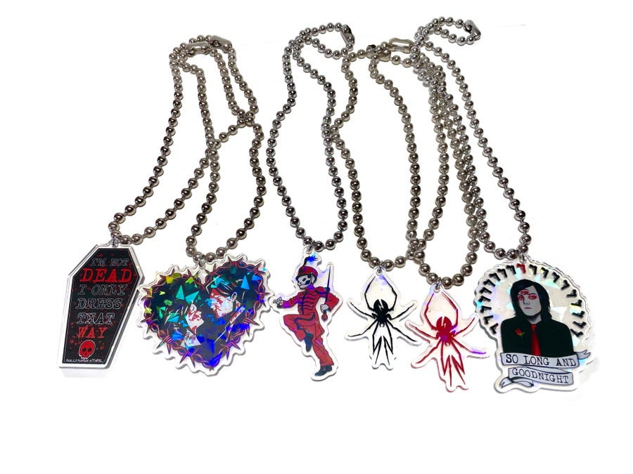Image of Black Widow Ball Chain Necklace