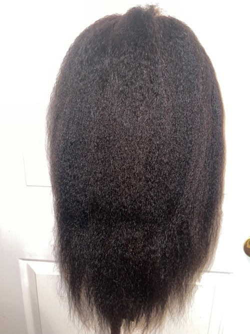 """Image of """"It's REAL HAIR sis"""" KINKY STRAIGHT t-part wig"""