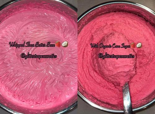 Image of Strawberry Coconut🍓🥥 Whipped Shea Butter🧈 Organic Sugar Body Scrub