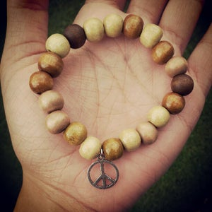 Image of Wooden Peace Bracelets