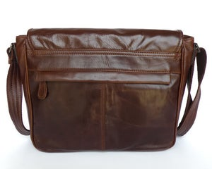 "Image of Handmade Vintage Leather Messenger Bag / Satchel / 11"" MacBook Air Bag in Dark Brown (n84)"