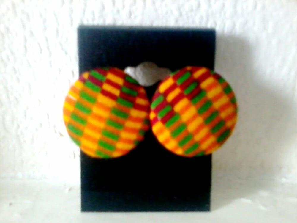 Image of Vekras Kente handmade Stud Earrings
