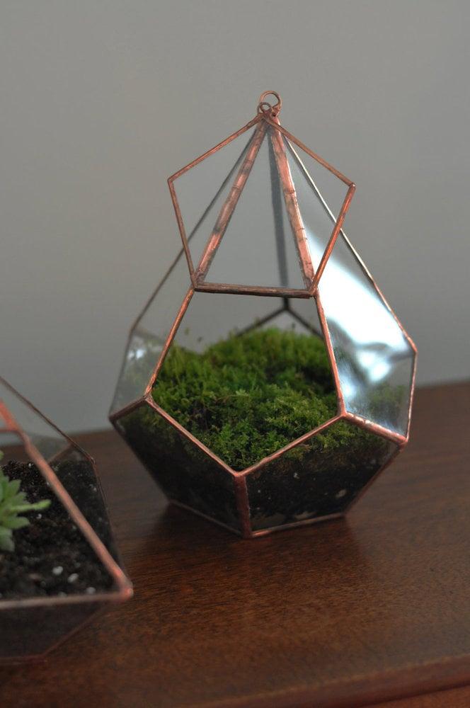 Image of Teardrop Terrarium Kit, medium hinged