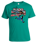 Image of HEROESCON 2012 T-SHIRT :: LOVE AND ROCKETS BY JAIME HERNANDEZ :: TEAL