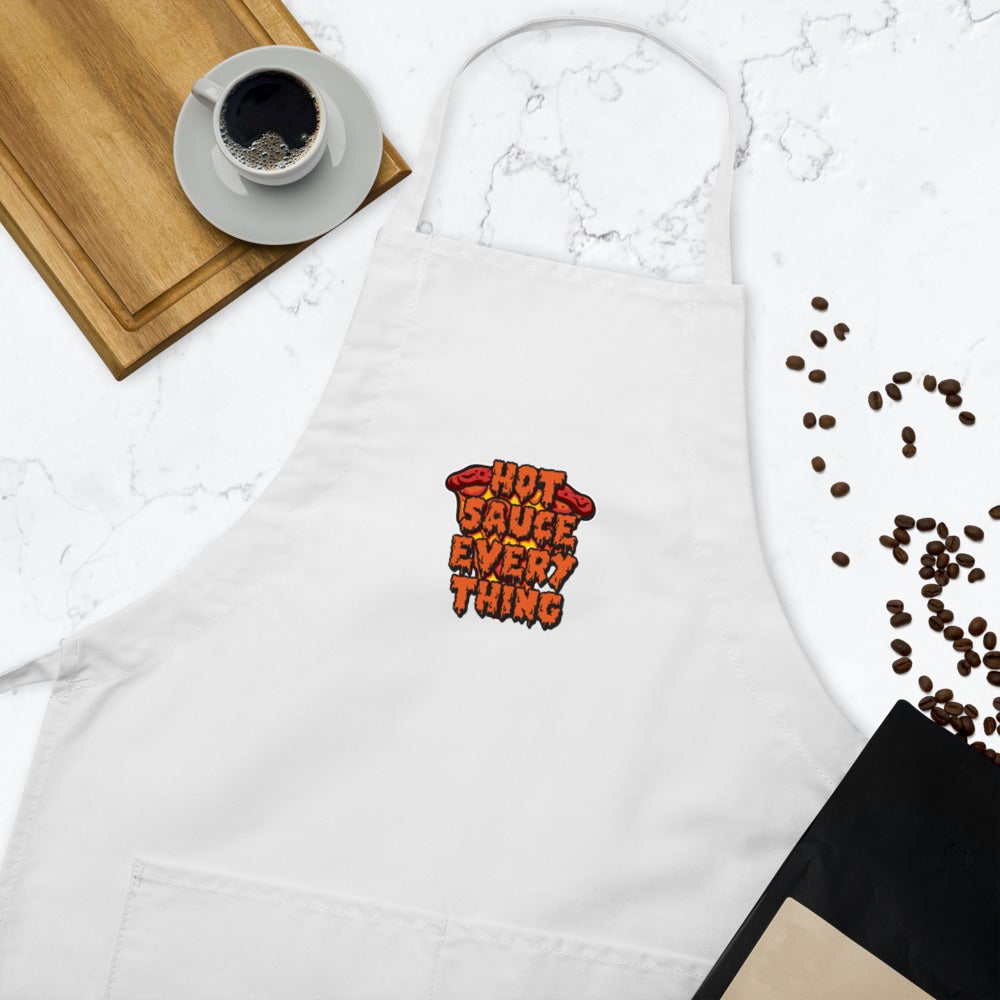 Hot Sauce Embroidered Apron