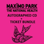 Image of MAXIMO PARK Ticket and Autographed CD bundle