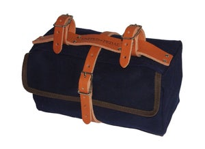 Image of Moss Saddlebag | 24oz Waxed Cotton | Navy Blue