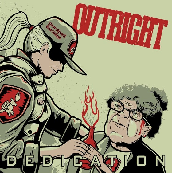 "Image of OUTRIGHT ""DEDICATION"" 7 inch - 2nd pressing"